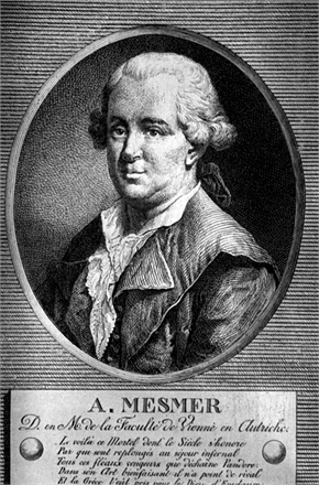Original caption: Portrait of Friedrich A. Mesmer (1734-1815). Originator of Mesmerism and hypnotism.  Illustration after a contemporary copper engraving.  BPA2 #3915 --- Image by © Bettmann/CORBIS