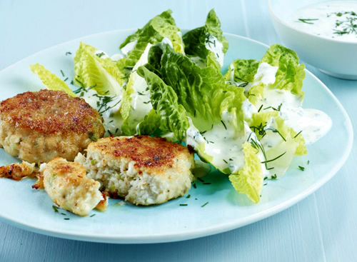 Fish Cakes with Green Sauce