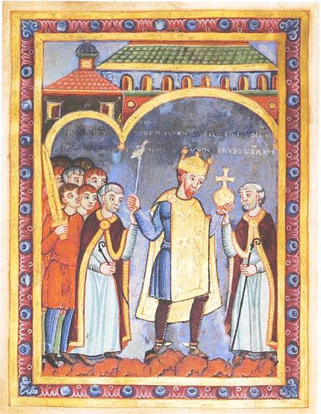 Heinrich III with the symbols of rulership