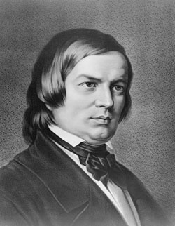Original caption: Robert Schumann (1810-1856). ca. 1800s