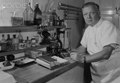 Doctor Werner Forssmann Working in Laboratory