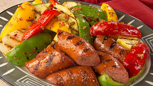 Grilled Meats & Vegetables with Baked Potatoes
