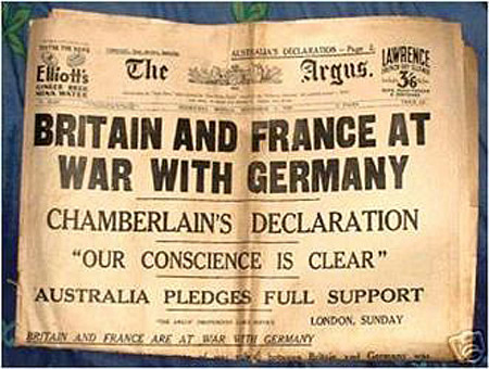 Image result for outbreak of WW2