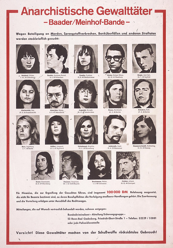 bader meinhof gang essay I had heard in my youth of the baader-meinhof gang, so named by the media   what struck me most forcefully was not the summary of historical events (this was .