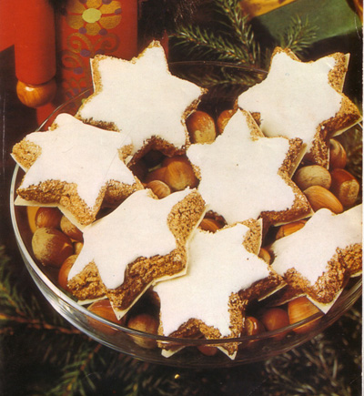 Zimtsterne Cinnamon Stars German Christmas Food