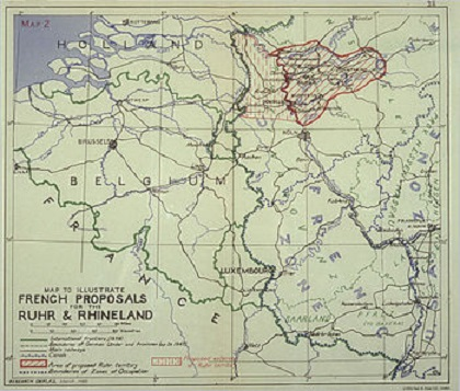 West Germany And The Community Of Nations - West germany resources map