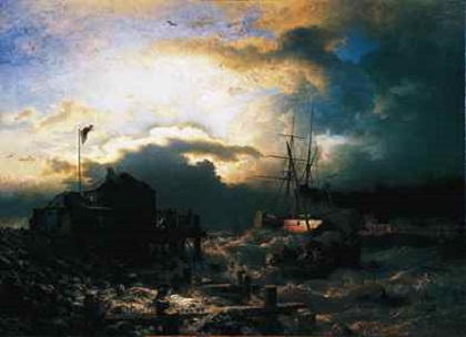 Sunset after a Storm, Andreas Achenbach