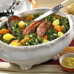 Grünkohleintopf – Kale Stew with Smoked Meat and Sausages