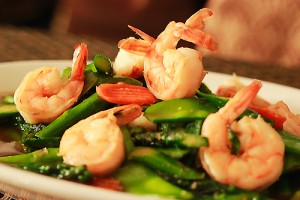 Asparagus and Shrimp Salad