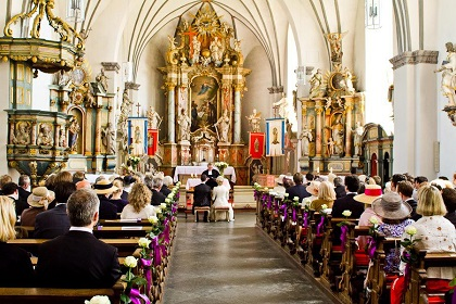 weddings and funerals Life events weddings one rule about german weddings is that a special place is to be chosen for the wedding, rather than following the general rule of having the wedding at the bride's family church as done in some cultures.