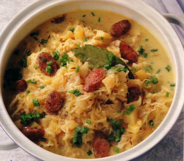 Eintopf Sauerkraut Stew With Sausages German Culture