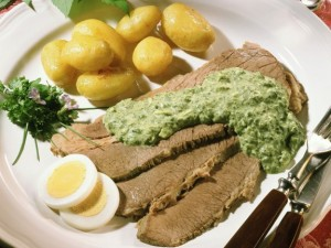 Beef with Green Sauce (Gekochtes Rindfleisch mit Grüner Sosse)