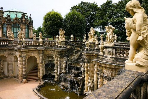 Nymphenbrunnen in the Zwinger Palace