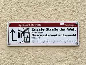 Spreuerhofstrasse – World's Narrowest Street