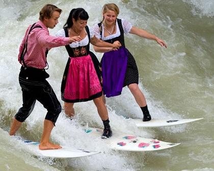 Surfing English Garden in Munich