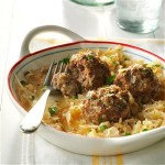 German Meatballs with Sauerkraut