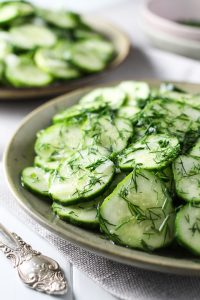 Gurkensalat (German Cucumber Salad)