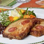 Westfälische Potthucke - Traditional German Potato Cake with Sausages
