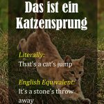 German Idioms - Part 1